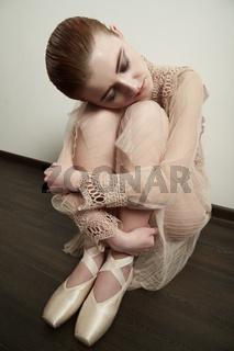 tired ballerina resting