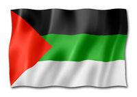 Arabic langage flag isolated on white
