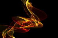 abstract red yellow twisted waves smoke