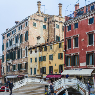 Canal Street Scene Venice Italy