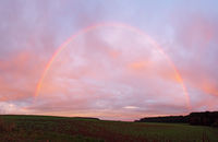 Rainbow in the sunset