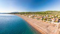 The beach Agia Anna (Agali) in Evia, Greece