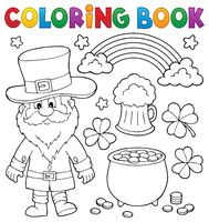 Coloring book St Patricks Day set 1