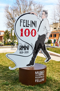 Advertisement of Museum of Federico Fellini