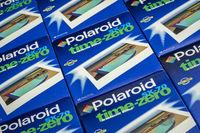 Polaroid time-zero instant film for cult SX-70 cameras