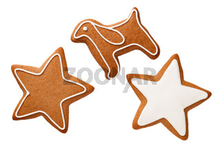 Gingerbreads Isolated On White Background