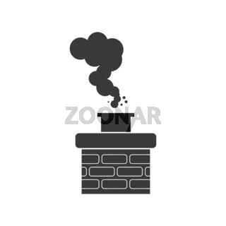 Chimney Smoke Icon Vector