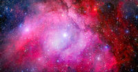 Starry outer space. Background texture. Elements of this image furnished by NASA