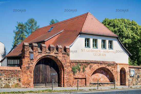 Bernau near Berlin, Germany - April 30th, 2019 - hospital st. georg from 1328
