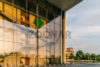 Paul Loebe Building and Bundestag in Government District of Berlin
