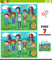 differences educational game with children and teens