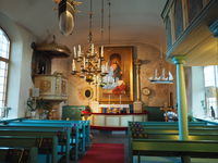 St. Georg church, Geta, Aland, interior view