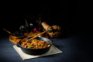 A real Polish 'Bigos,'after an old recipe with dried plums and wine.