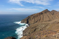 View of the stand Playa del Trigo near Alojera on the island La Gomera