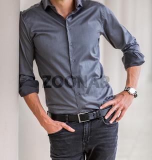 Cropped Head Man in a smart dress shirt