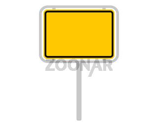 Ortsschild aus Deutschland auf weiss - Road sign of Germany on white