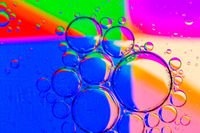 Abstract Background of Oil Bubbles on Water Surface colorful palette.