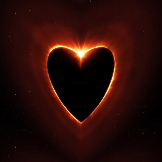 heart shape sun eclipse