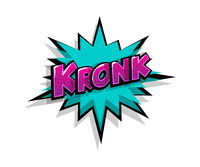 Comic text kronk boom logo sound effects