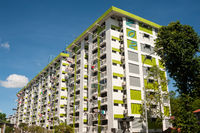 Singapur, Republik Singapur, Mehrgeschossige HDB Wohnblocks des oeffentlichen Wohnungsbau