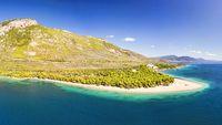 The beach Gregolimano in Evia, Greece