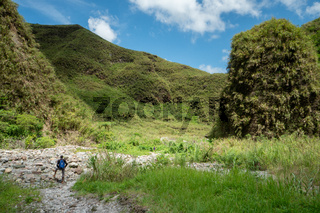 Hike to Mount Pinatubo in in the Philippines on the northern island of Luzon