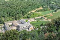 View of the Senanque Abbey in the Luberon