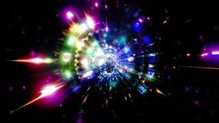 Glowing pyramide fantasy tunnel 3d illustration background wallpaper artwork