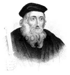 John Wycliffe Doctor evangelicus, 1330 - 1384, an English philosopher