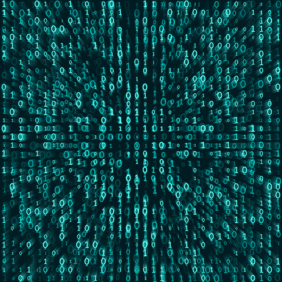 binary numbers background