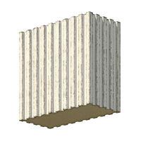 Vintage blank concrete block 3D