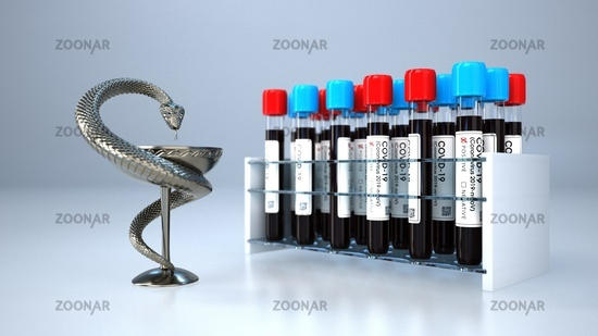 Aesculapian Statue Positive Blood Tests