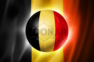 Soccer football ball with Belgium flag