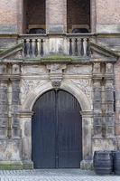 Medieval door with collumns