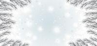 White Frozen Branches Snowfall Christmas Header