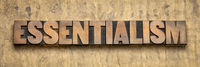 essentialism word in wood type