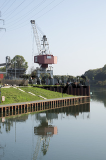 Am Stadthafen in Recklinghausen, NRW, Deutschland