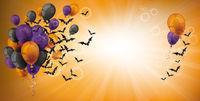 Halloween Balloons Bats Grape Sunbeam Header
