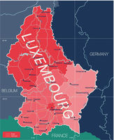 Luxembourg country detailed editable map