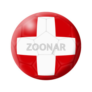 Switzerland soccer ball football 3d illustration isolated on white with clipping path