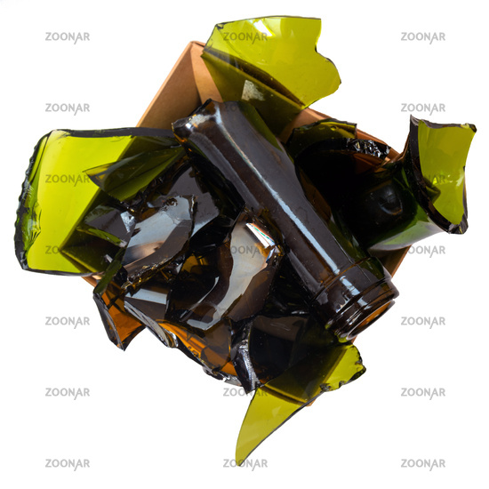 Separate garbage collection. Glass. Environmental pollution.