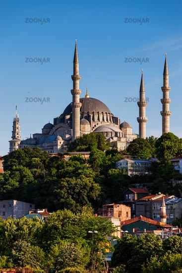 Suleymaniye Mosque in City of Istanbul