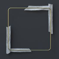 Abstract background golden rectangle with white corners 3D