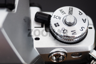 Shooting mode selection wheel of a digital camera