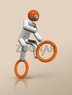 Cycling BMX 3D icon, Olympic sports