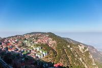 aerial view of beautiful mount lu in morning
