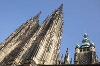 St. Vitus Cathedral, Prague Castle, Prague, Bohemia, Czech Republic, Europe