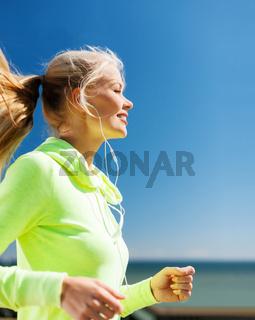 woman doing running outdoors