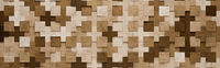 Brown Squares and Crosses 3D Pattern Background