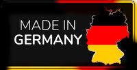 creative abstract concept of made in Germany symbol. map of Germany 3d-illustration